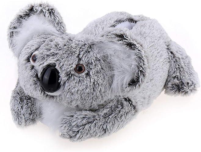 Adult /& Kids Sizes In Stock Koala Bear Slippers Gray Animal Slippers