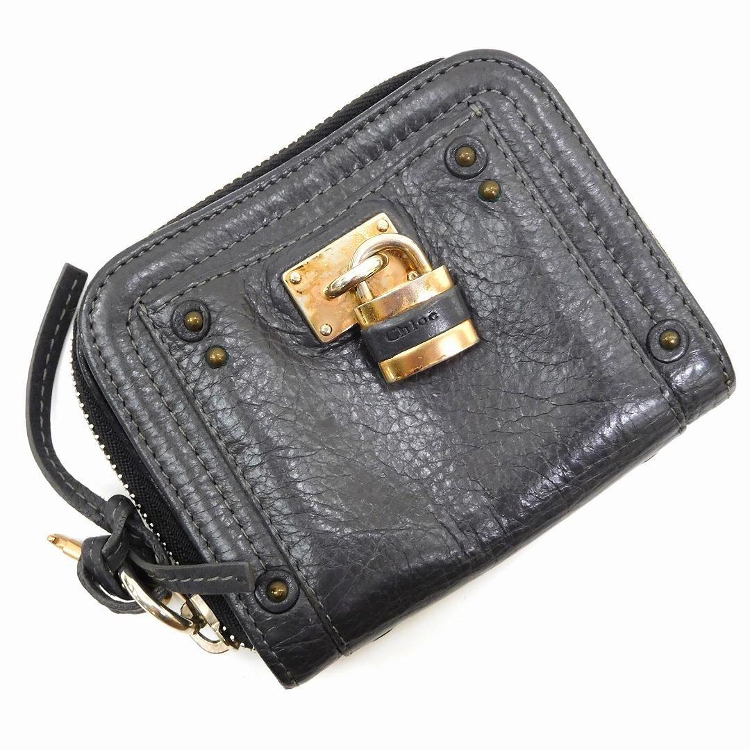 [クロエ] Chloe 二つ折り財布 レザー X2219 中古   B07D114JSY