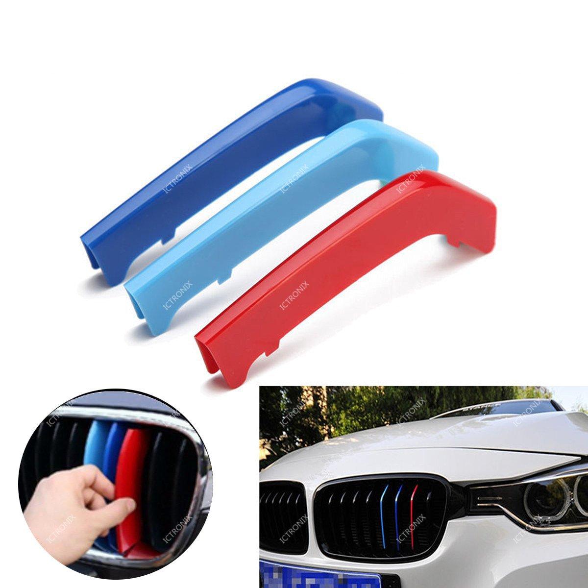 ICT Ronix M Style enfriador Barbacoa Clip Cover Tapa hebilla rayas Trim ABS 3 Colores: Amazon.es: Coche y moto