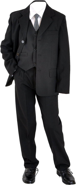 """5tlg Kinderanzug,Kommunionsanzug,Anzug/""""Nick/""""Größe 80//86 unifarben schwarz"""