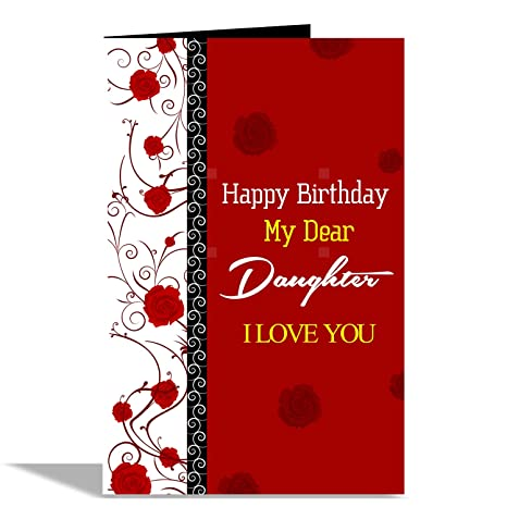 Alwaysgift Happy Birthday My Dear Daughter Greeting Card Amazonin Office Products