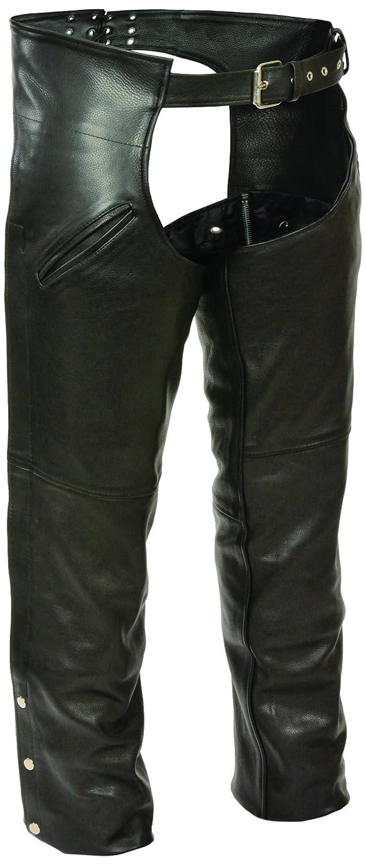 Milwaukee Men's Slash Pocket Chaps with Thermal Liner (Black, XXX-Large) Shaf International Inc. LKM5710-BLK-3XL