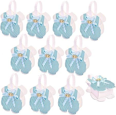 24 PCS Biberon /à Forme Bo/îte de Bonbons Baby Shower Favor Bo/îte Cadeau pour Gar/çon Fille B/éb/é Bapt/ême F/ête de Naissance Faveurs F/ête danniversaire D/écoration Bleu /& Bouteille de Bonbons