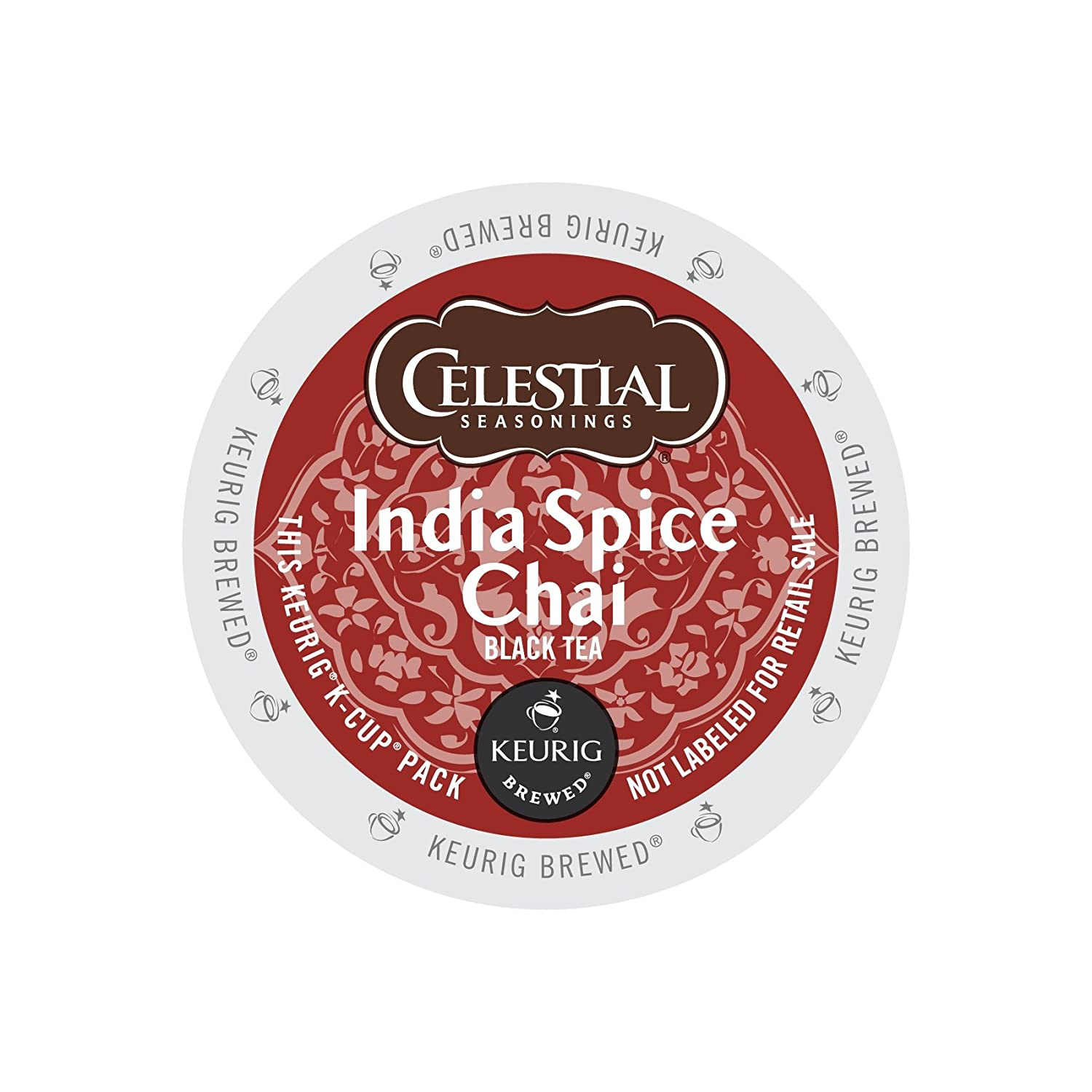 Celestial Seasonings 14738CT India Spice Chai Tea K-Cups, 96/carton 71qMT3Md2mL