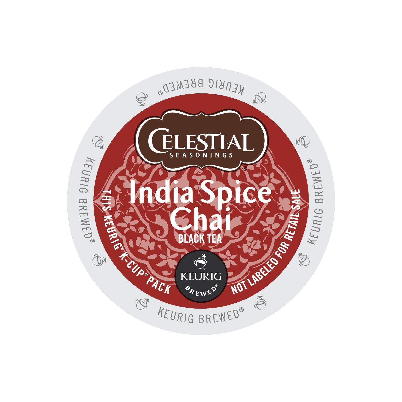 Celestial Seasonings 14738CT India Spice Chai Tea K-Cups, 96/carton by Celestial Seasonings