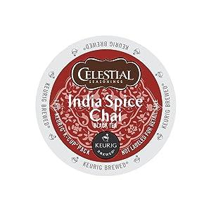 Celestial Seasonings 14738CT India Spice Chai Tea K-Cups, 96/carton