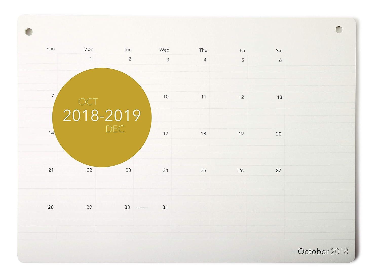 Elegant Desk Calendar 2018 2019 Monthly Desk Pad Planner October