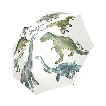 kitchor custoimzed dinosaurios plegable paraguas de viaje