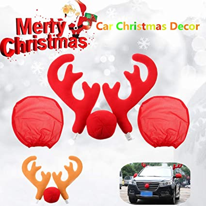 Christmas Car Decorations.Amazon Com Essort Christmas Car Decorations Reindeer
