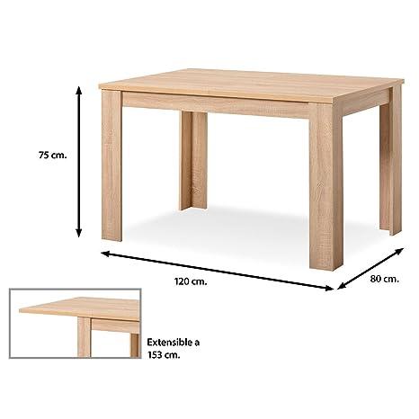 Muebles Baratos Mesa de Comedor Extensible Color Roble ...