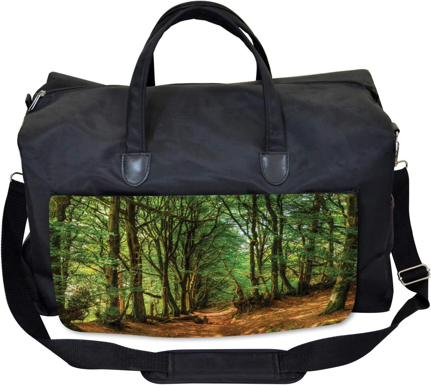 Woodland Pathway Scene Ambesonne Forest Gym Bag Large Weekender Carry-on
