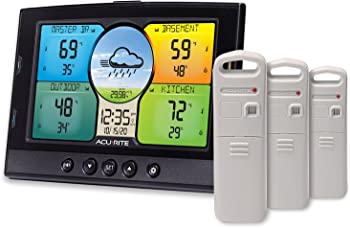 AcuRite Home Temperature & Humidity Station with 3 Indoor/Outdoor Sensors
