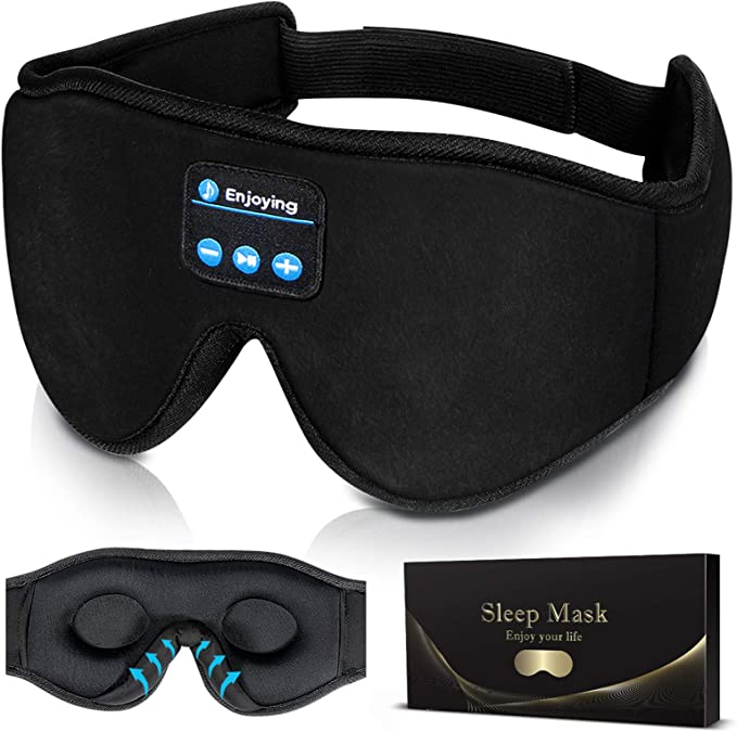 Sleep Headphones,3D Sleep Mask Bluetooth 5.0 Wireless Music Eye Mask