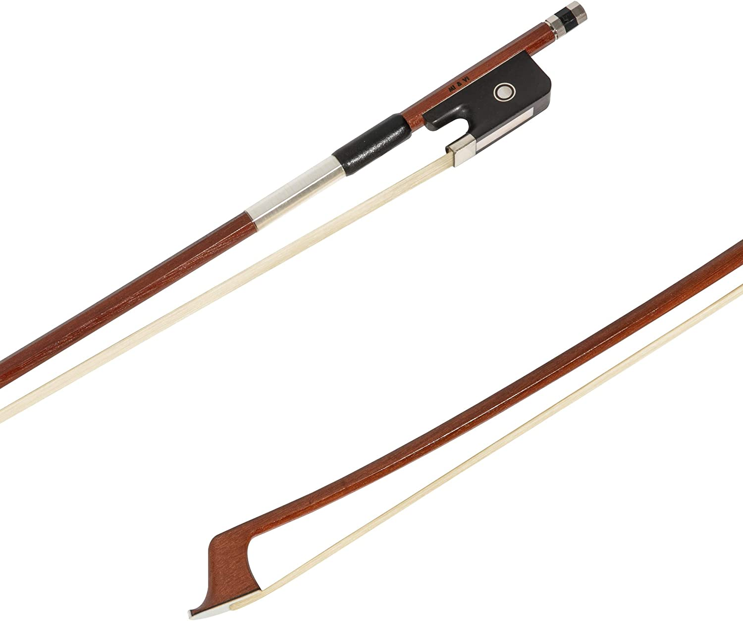 MI&VI Brazilwood Cello Bow (3/4 Size) with Ebony Frog and Octagonal Silver Mount