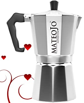 Hornillo, - Cafetera de espresso - italiano - Olla de Moka cafetera - Máquina de café de Cuba - por mateojo: Amazon.es: Hogar