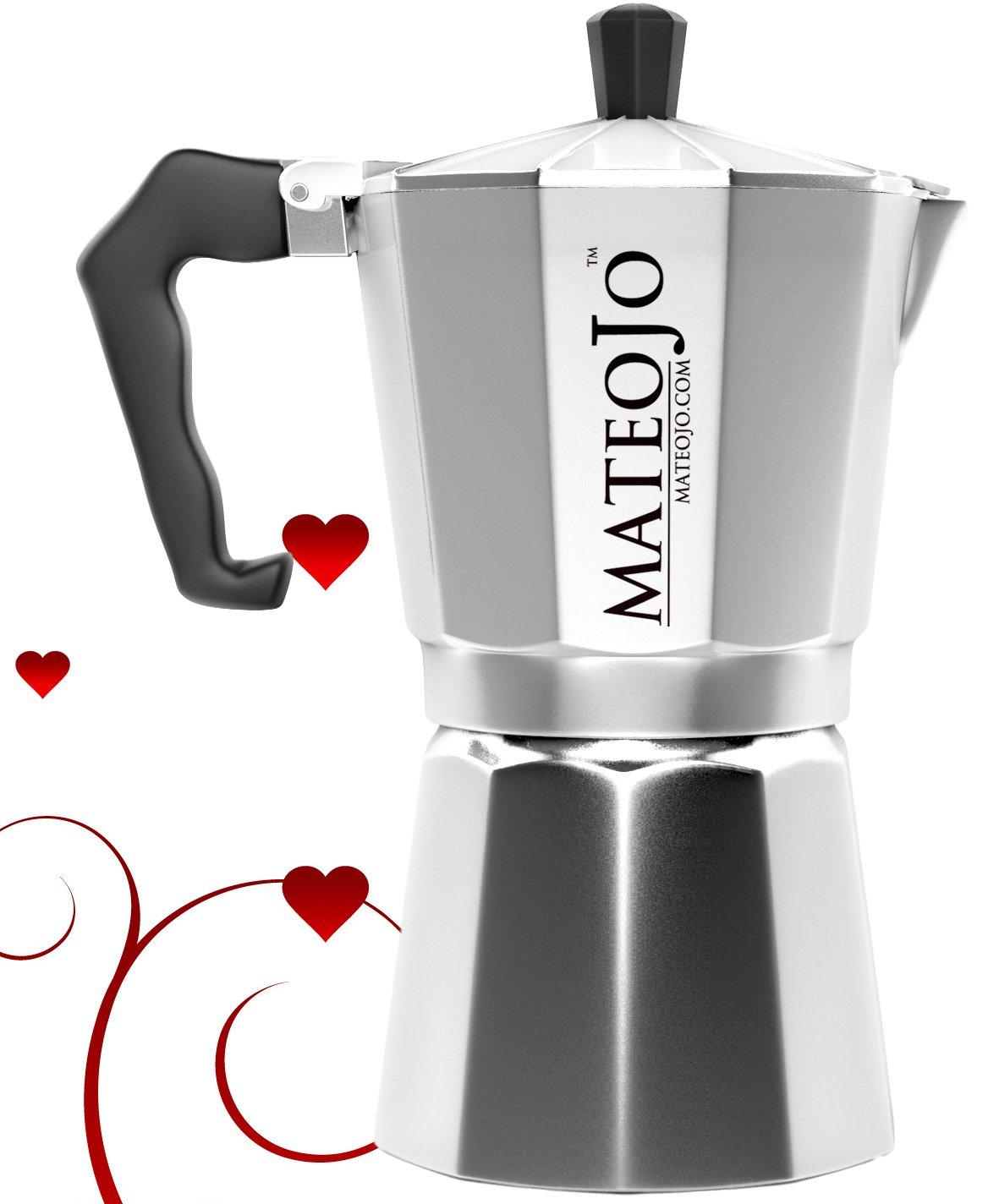 Stovetop Espresso Maker - Italian Moka Pot - Cafetera - Cuban Coffee Machine - 6 Cup by MateoJo … by MateoJo