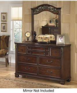 Ashley Furniture Signature Design   Leahlyn Dresser   7 Drawer   Warm Brown