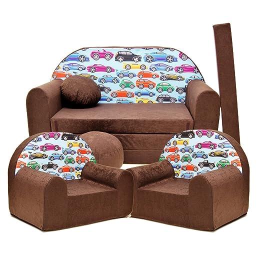 K21 - Juego de sofá Infantil y 2 sillones Infantiles (Juego ...