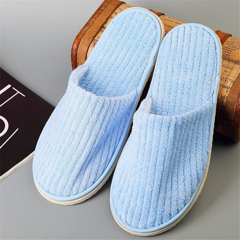 SPA slippers Disposable Slippers for Guests Closed Toe for Women and Men, Coral Fleece, A, 100 pairs by SPA slippers (Image #1)