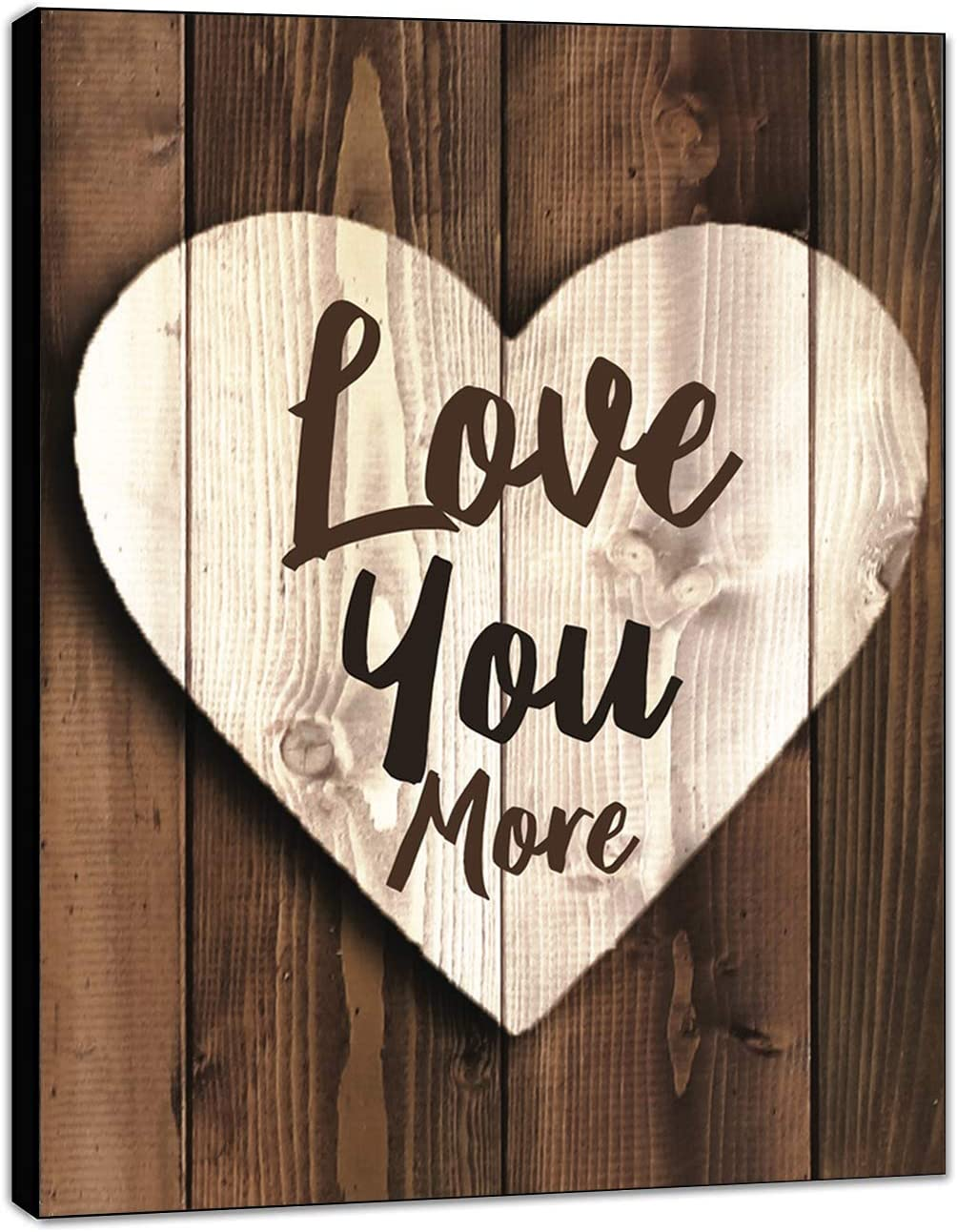 "LACOFFIO Love You More Wall Decor House Warming Gifts - 9""x 12"" Home Decor Perfect for Kitchen and Living Room - Inspirational and Motivational Quotes Wall Art"