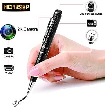 LTMADE 1296P Spy Camera 32G Hidden Camera Pen