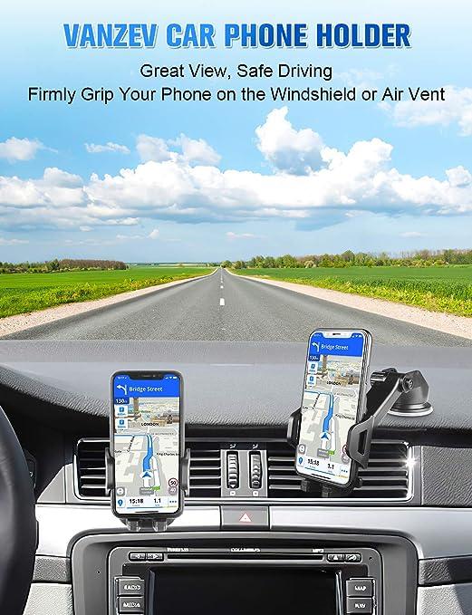 Vanzev Handyhalterung Auto Lüftung Saugnapf Handy Halterung 3 In 1 Universale Kfz Handyhalter Für Iphone 12 12 Pro 11 Xr Xs Max 8 Plus Se 2020 Samsung Galaxy S20 Ultra S10 A51