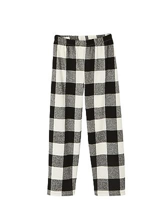 1005efc56decc Vertbaudet Pyjama bi-matière garçon Carreaux Noir 14 A  Amazon.fr ...