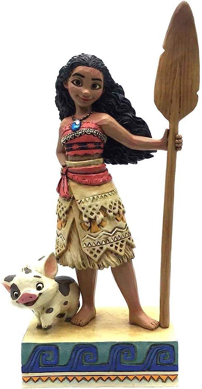"Enesco Disney Traditions by Jim Shore Moana Figurine, 6.56"", Multicolor"