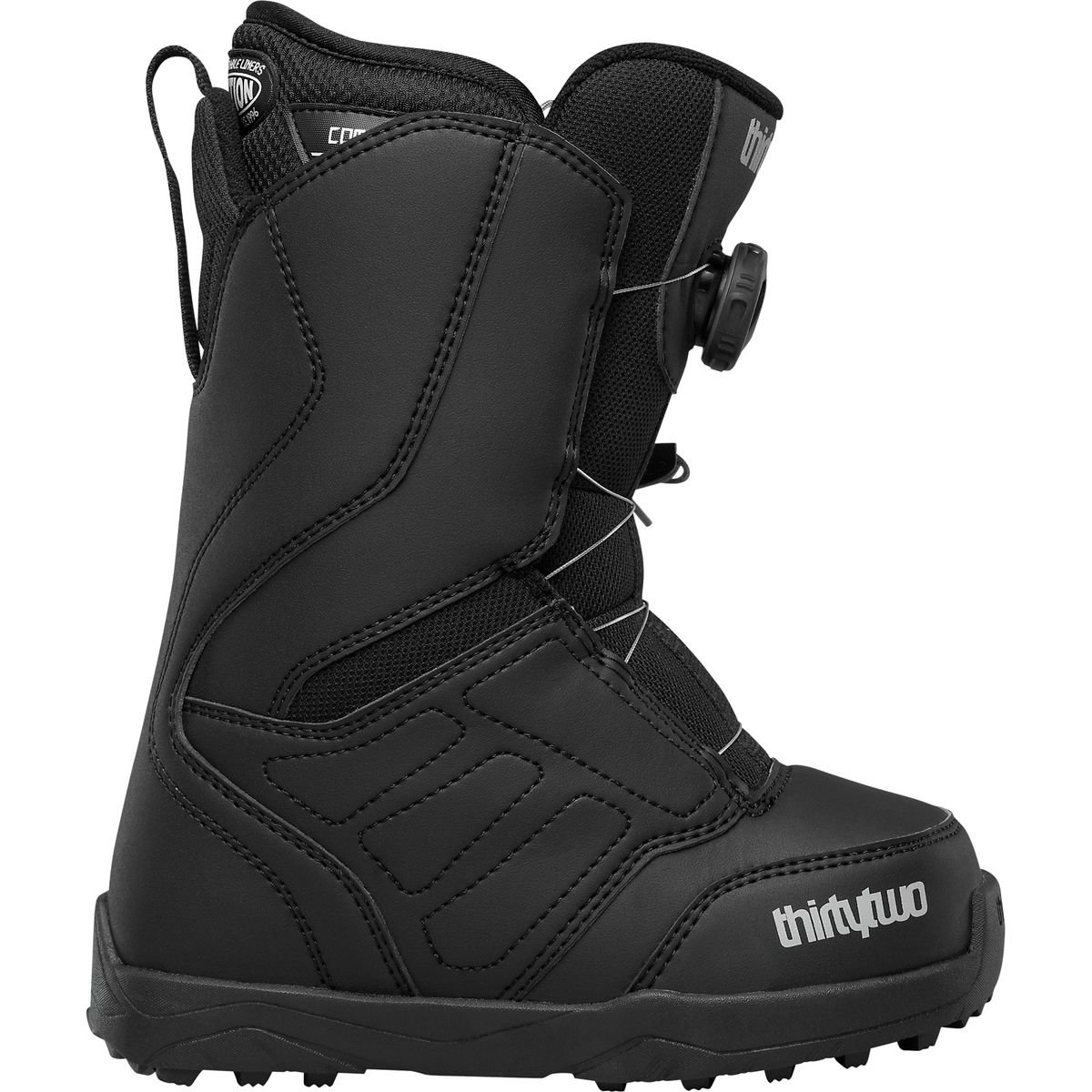 ThirtyTwo Lashed Boa Snowboard Boot - Kids' Black, 2.0 by thirtytwo