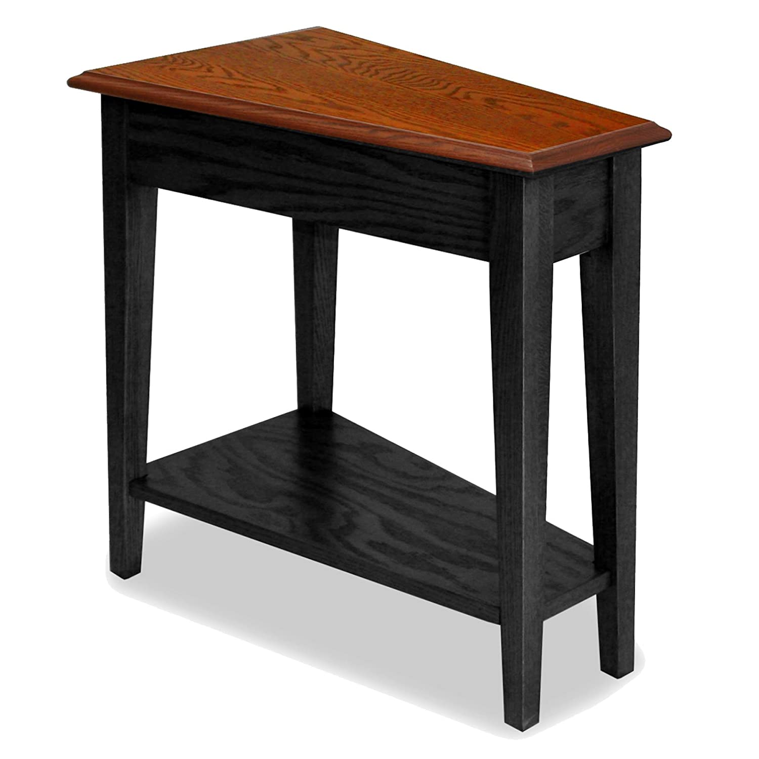 Amazon Leick Recliner Wedge End Table Black Kitchen & Dining