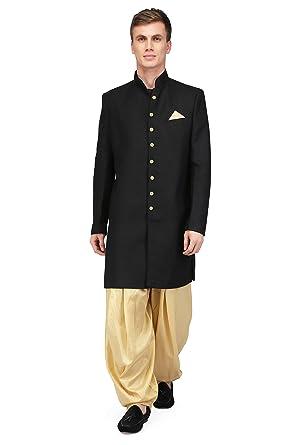 c4d056c2b Pret a Porter Sherwani Stiched Band Gala Jacket With Salwar  Amazon ...