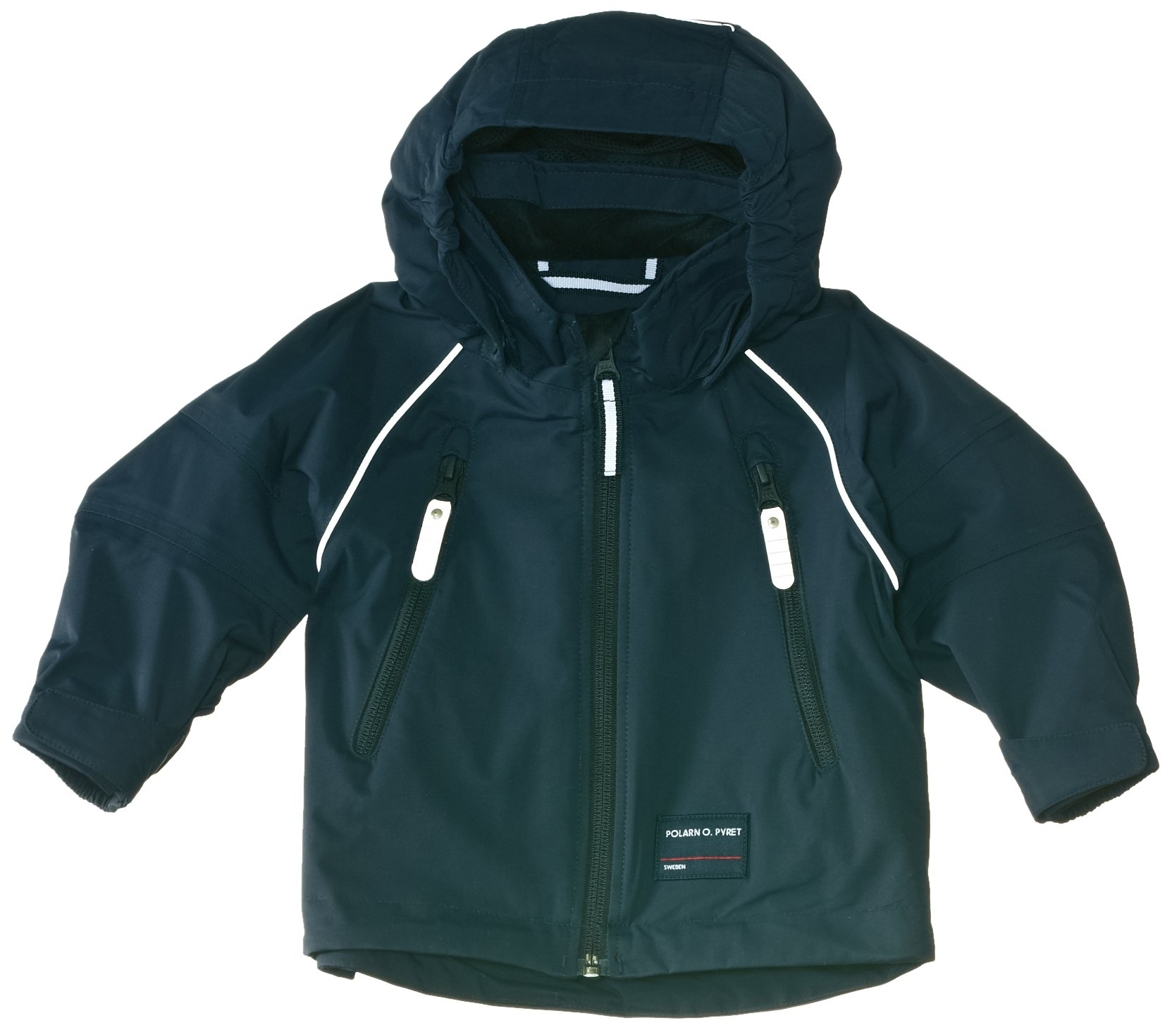 POLARN O. PYRET BEST BASIC WATERPROOF ECO SHELL JACKET (BABY) - 9-12 M/Navy