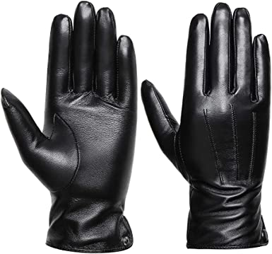 Women Ladies Soft sheepskin 100/% Leather Gloves with lining Driving Winter Glove
