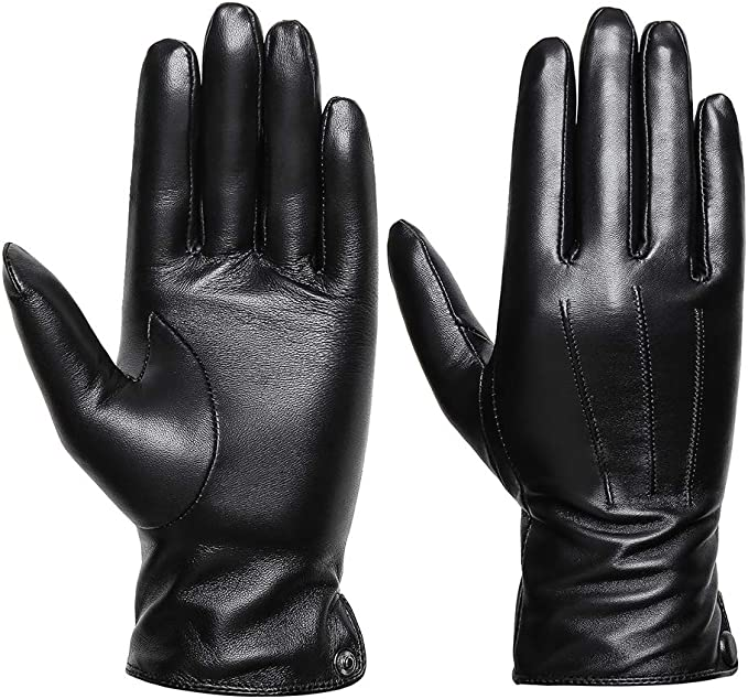 WOMEN FLEECE LINED LEATHER WINTER WARM LADIES GLOVES DRIVING SOFT GENUINE ONE