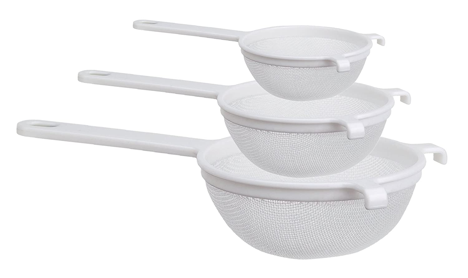 Culina Nylon Mesh Strainer Set of 3 - 4 in., 5½ in. and 7 in. 5½ in. and 7 in. Culina® SYNCHKG041691