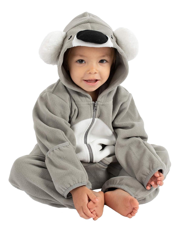 Pijamas Infantiles Chaqueta de Invierno Abrigo Polar Ni/ño Mono de Ni/ños Cuddle Club Mono Polar Beb/é para Reci/én Nacidos a Ni/ños 4 A/ños