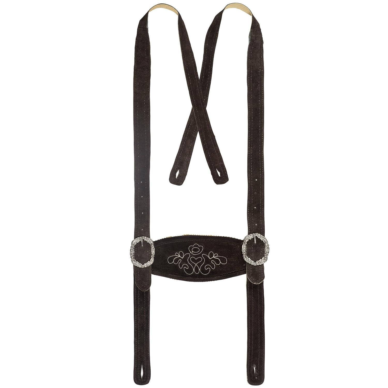 Bongossi-Trade Herren Trachten Lederhose in Altbraun Kniebundlederhose Gr 46-60