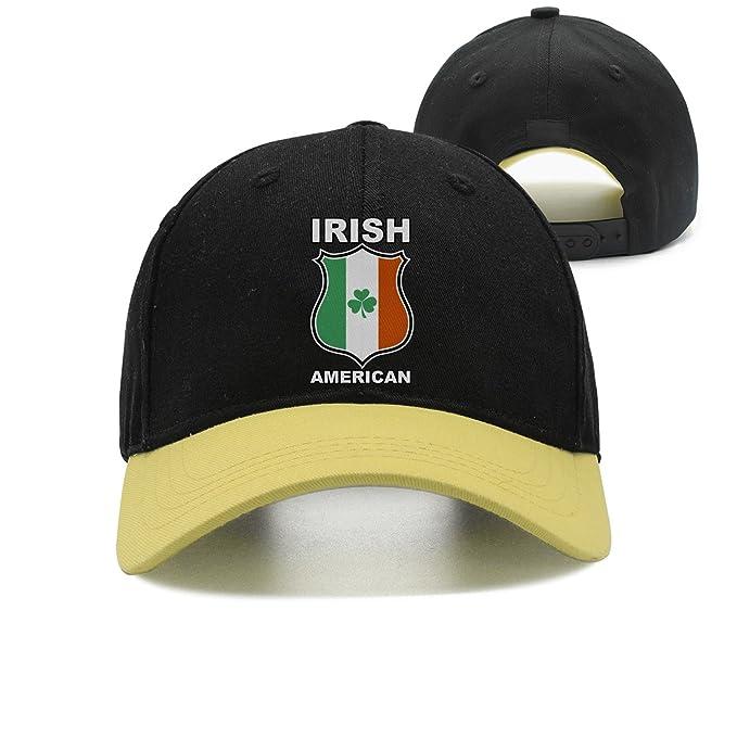 83043308bdc Pattern Irish American Police Sun Hats Adjustable Cute Cap at Amazon ...