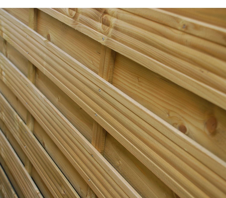 Sichtschutzzaun Lamellenzaun Senkrechtzaun Holz Zaun mit Bogen