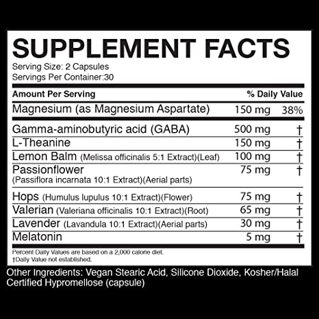 Amazon.com: WURX Nutrition Night Wurx Sleep Aid Capsules, 30 servings: Health & Personal Care