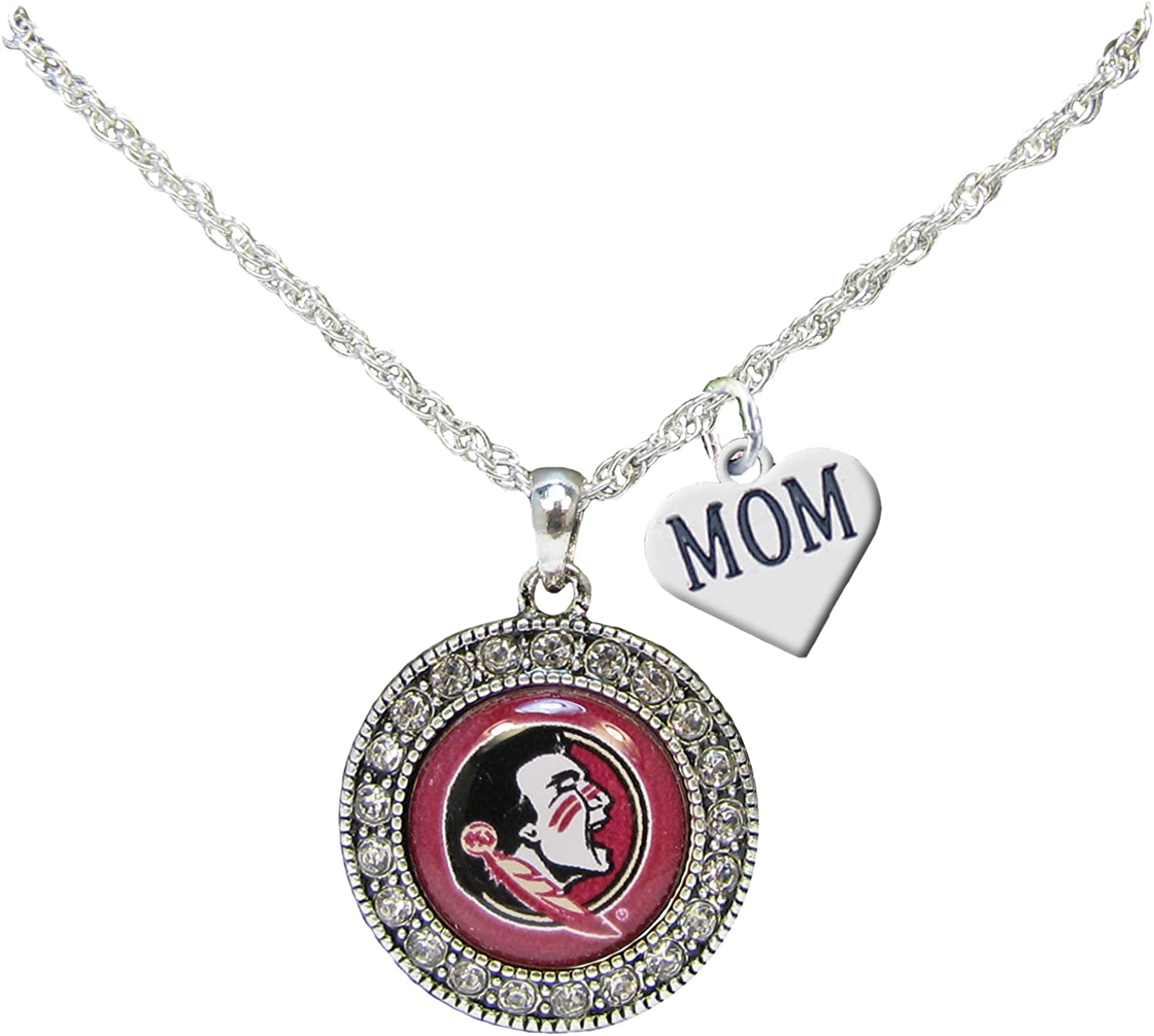 16-20 Mireval Sterling Silver Antiqued Florida State Charm on a Sterling Silver Chain Necklace