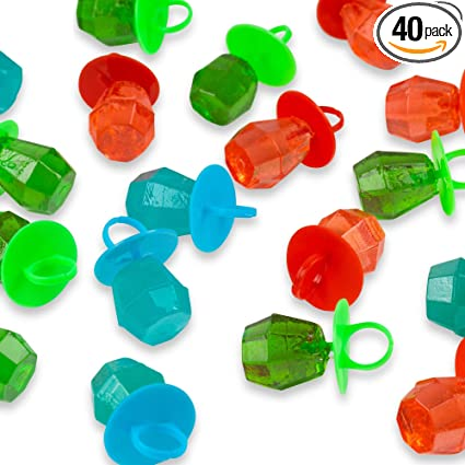 Jewel Pop, caramelo duro con forma de anillo, 40 unidades ...