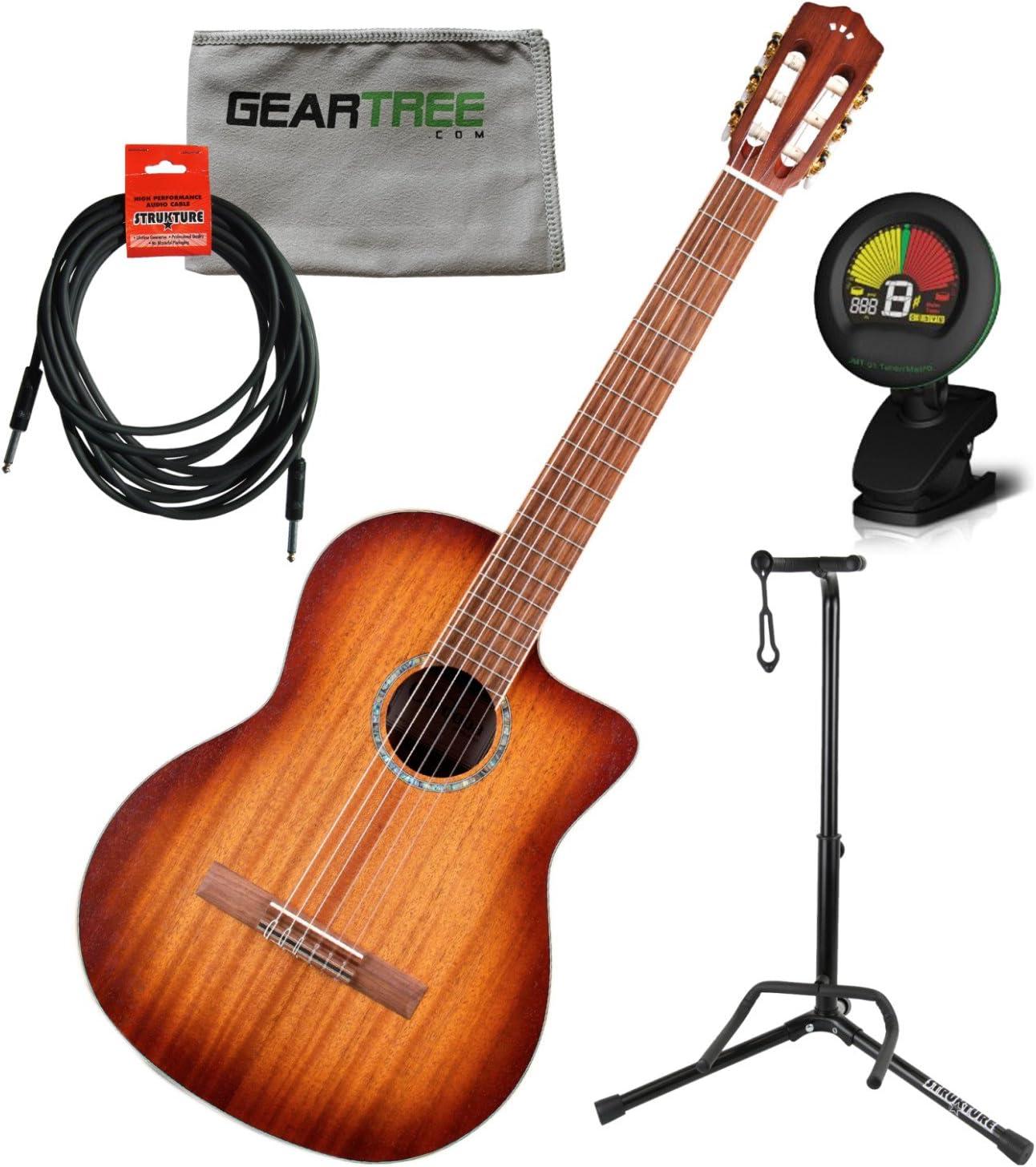 Cordoba c4-ce Cutaway Eléctrico (cuerdas de nailon guitarra w ...