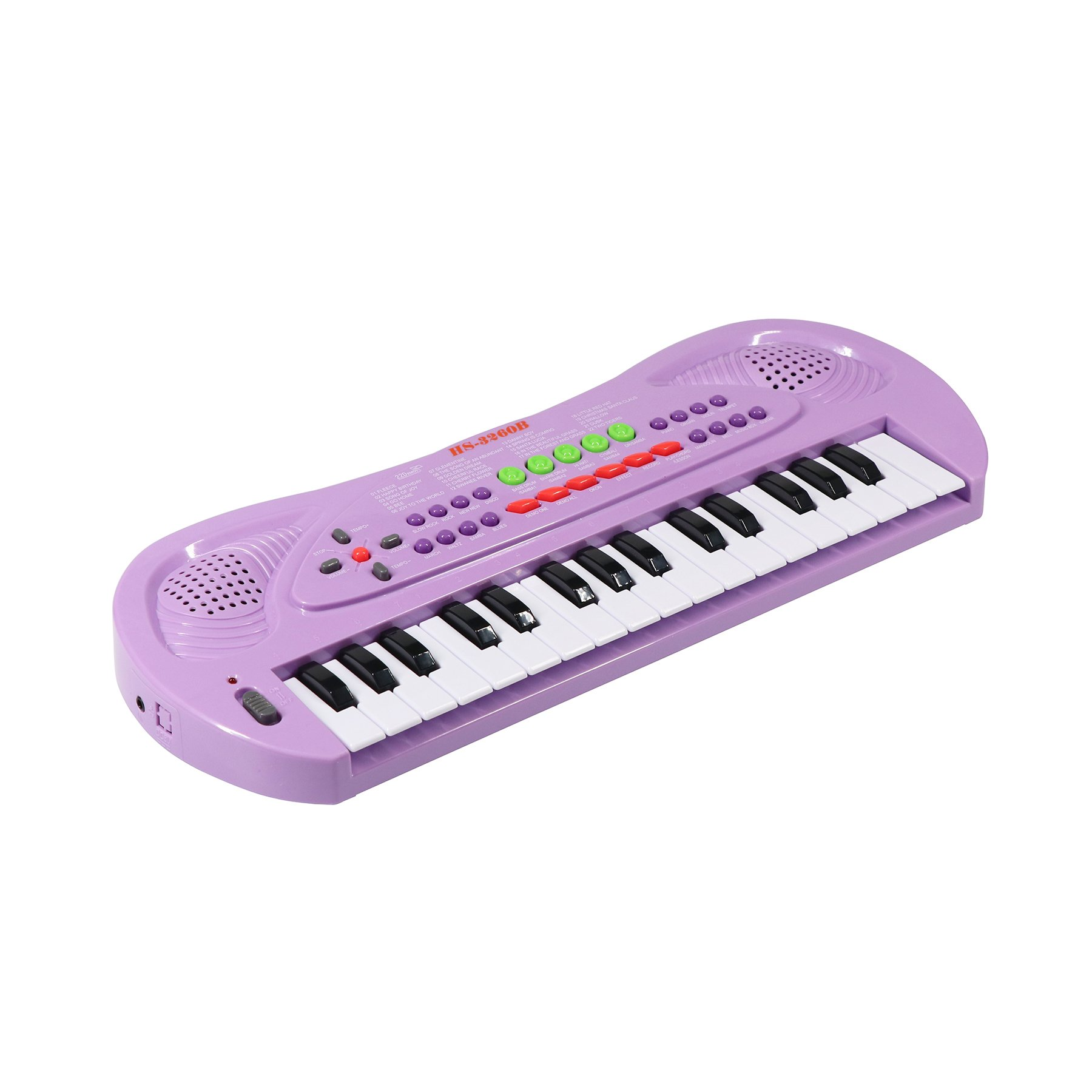 aPerfectLife Kids Piano, 32 Keys Multifunction Electronic Kids Keyboard Piano Music Instrument for Toddler with Microphone (Purple) (Purple)