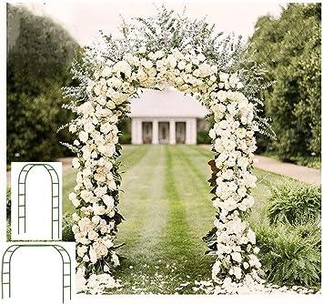 Arco de Metal de Flores para Jard/ín 114 x 57 x 210 cm Cikonielf Arco de Rosas de Jard/ín con Banco Carga 130kg