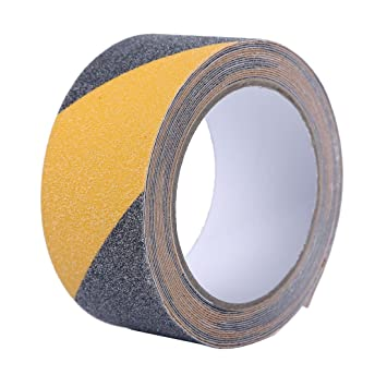 EONBON Black And Yellow Anti Slip Tape For Stairs, Safety Track Tape , Steps  Non