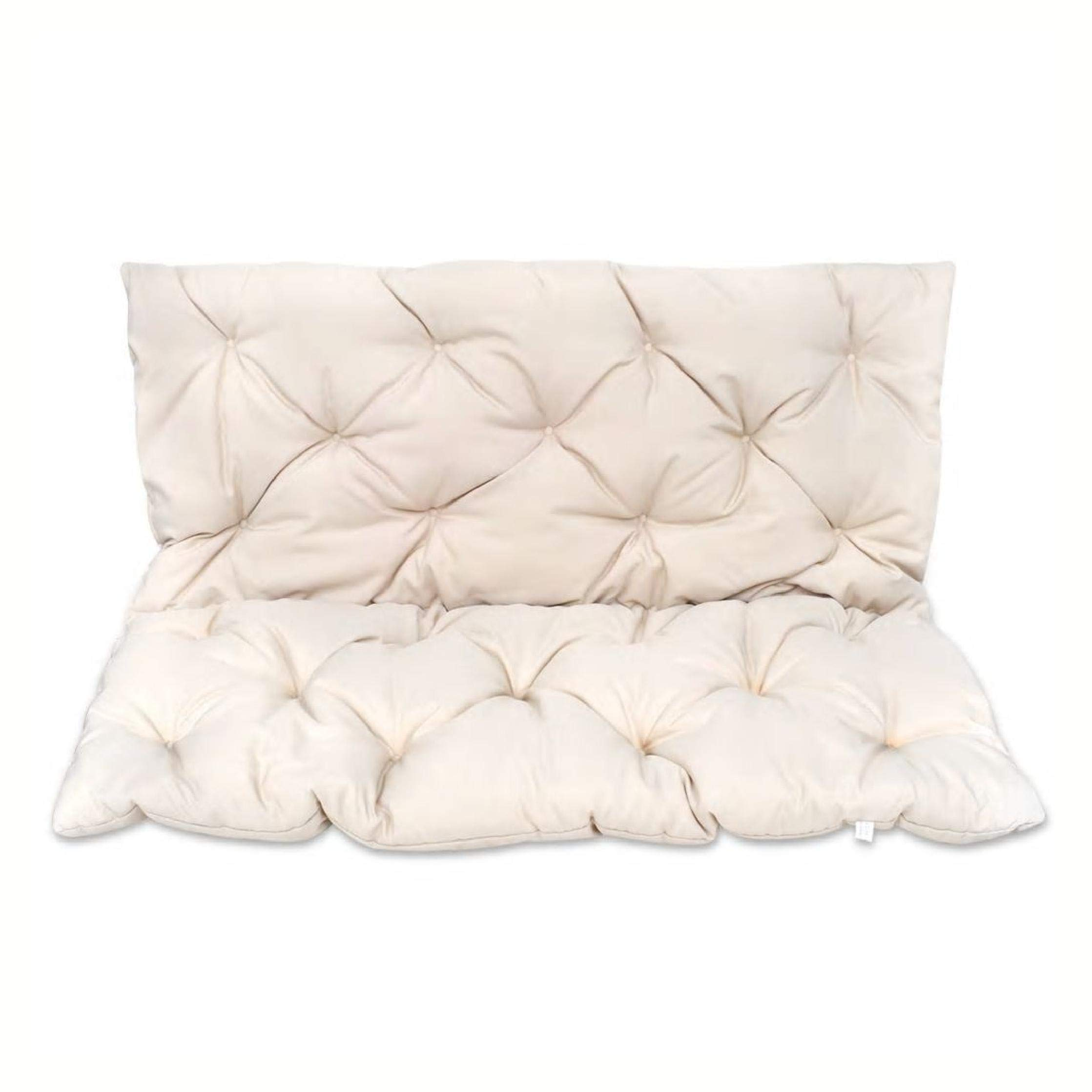 HomyDelight Chair & Sofa Cushion, Cream Cushion for Swing Chair 47.2'' by HomyDelight