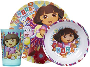 Dora the Explorer 3 Pc Mealtime Set Plate Bowl Tumbler  sc 1 st  Amazon.com & Amazon.com: Dora the Explorer 3 Pc Mealtime Set Plate Bowl Tumbler ...