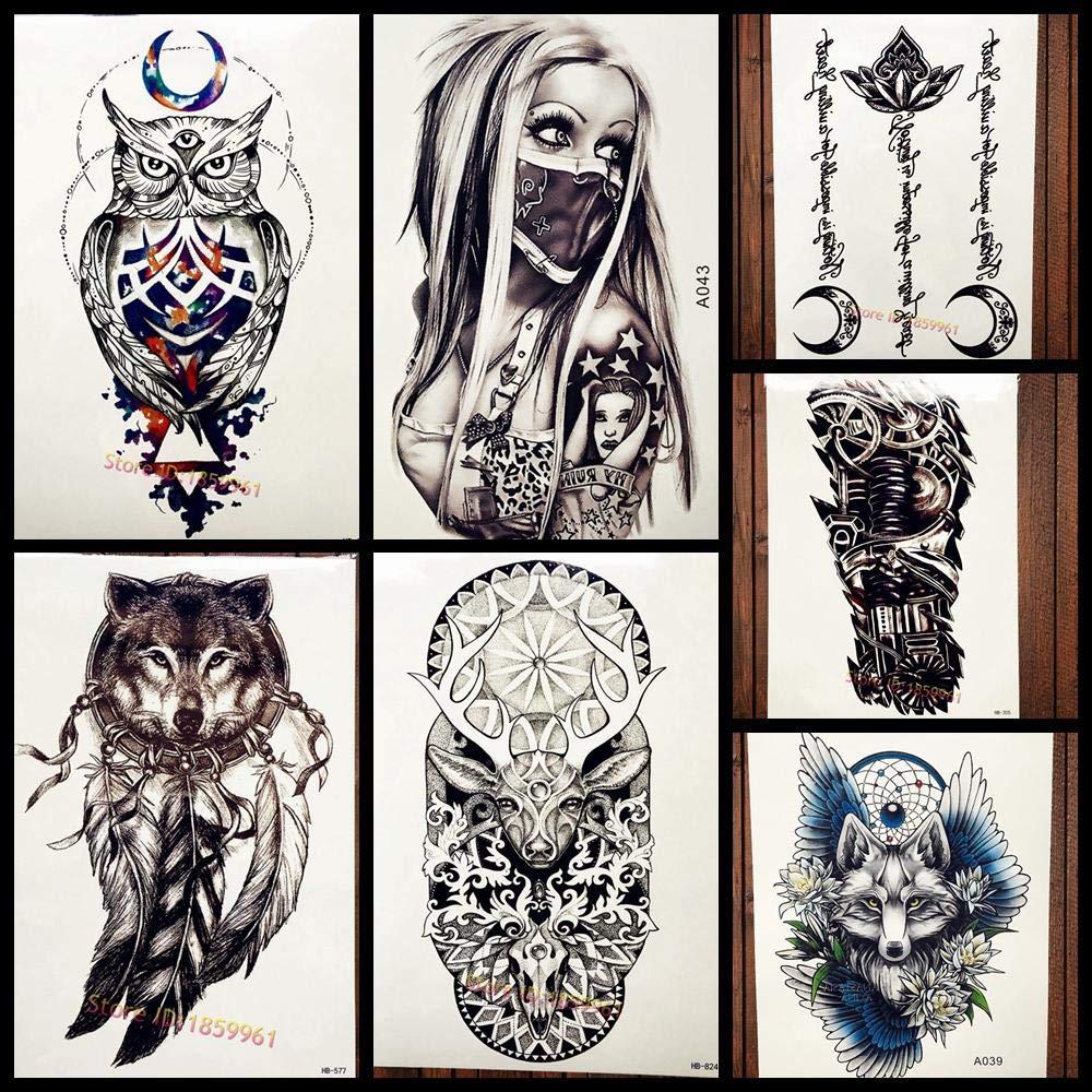 Tatuajes Temporales ¡Caliente! Árabe Moon Owl Tatuaje Temporal ...