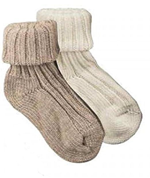 2 pares de calcetines de sobre patucos con lana de alpaca, Pre-enjuague, 100% extrablando, CH de 194: Amazon.es: Ropa y accesorios